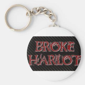 BrokeHarlot Basic Round Button Key Ring