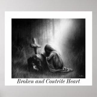 Broken and Contrite Heart- Medium Poster
