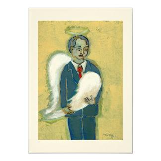Broken Angel Man humility humanity unique art 13 Cm X 18 Cm Invitation Card