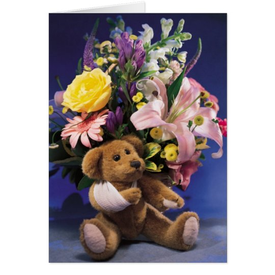 Broken Arm Teddy Bear Card