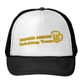 Broken Arrow Drinking Team tee shirts Mesh Hats