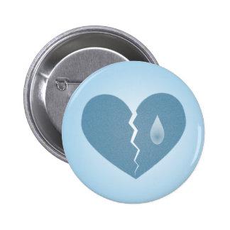 Broken Blue Heart Button