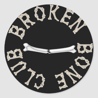BROKEN BONE CLUB CLASSIC ROUND STICKER