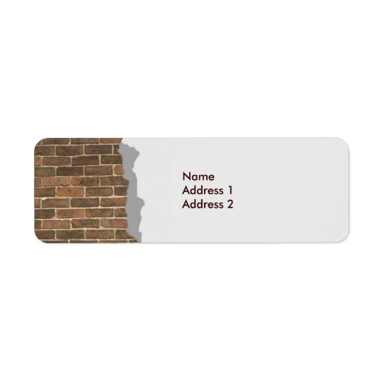 Broken Brick Wall Avery Label Return Address Label