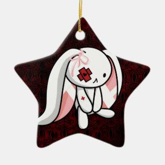 Broken Bunny Ceramic Star Decoration