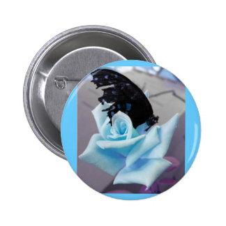 Broken Butterfly-blue Button