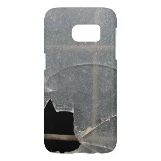 Broken Dirty Window With Metal Bars