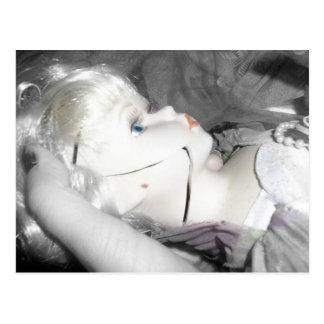 Broken doll postcard
