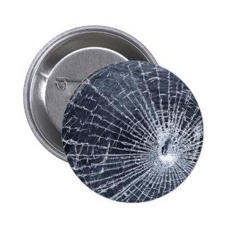 Broken Glass 6 Cm Round Badge