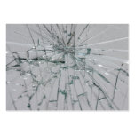 Broken Glass Background Pack Of Chubby Business Cards