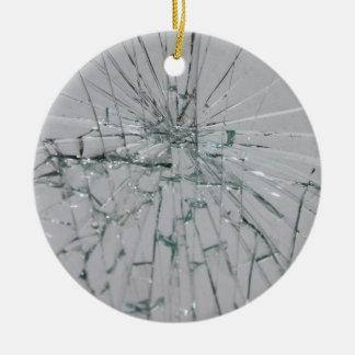 Broken Glass Background Round Ceramic Decoration