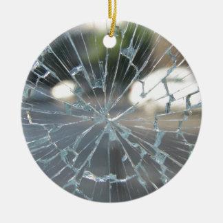 Broken Glass Christmas Ornament