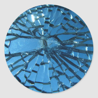 Broken Glass Design Classic Round Sticker