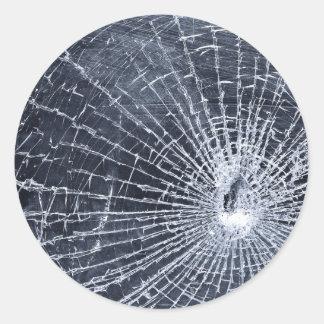 Broken Glass Round Sticker