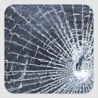 Broken Glass Square Sticker