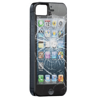 Broken Glass with side buttons iPhone 5 Cases