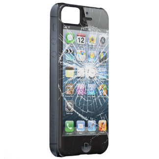 Broken Glass with side buttons iPhone 5C Case