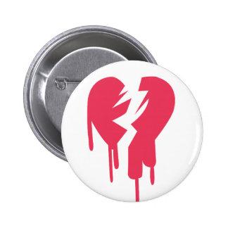 Broken Heart 6 Cm Round Badge