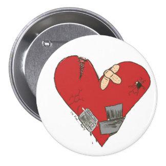 Broken-Heart 7.5 Cm Round Badge