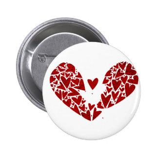 Broken Heart Attack 6 Cm Round Badge