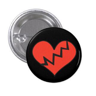 Broken Heart Badge Pin Button