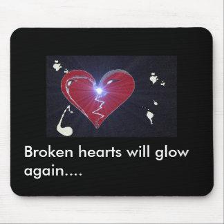 broken heart, Broken hearts will glow again.... Mouse Pad