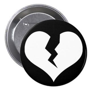 Broken Heart Button / Pin