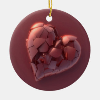 Broken Heart Christmas Ornament
