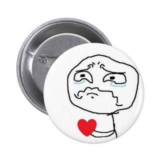 Broken Heart Comic Face 6 Cm Round Badge