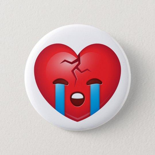 Broken Heart Emoji 6 Cm Round Badge