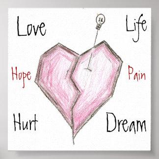 Broken Heart-Love Canvas Print