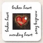 Broken heart/Mending heart-cork coaster