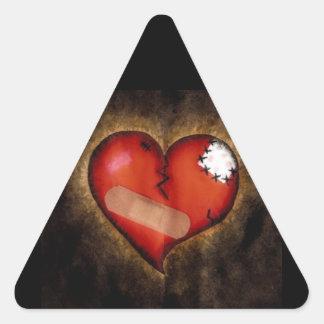 Broken Heart/Mending Heart-triangle sticker