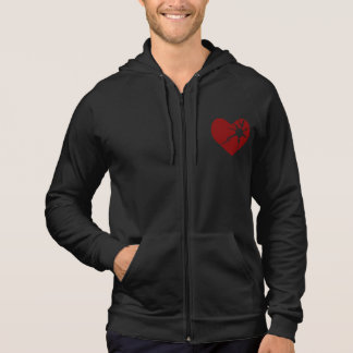 Broken Heart Men's Zipper Hoodie