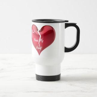Broken Heart 15 Oz Stainless Steel Travel Mug