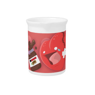 Broken heart needs chocolate pitcher