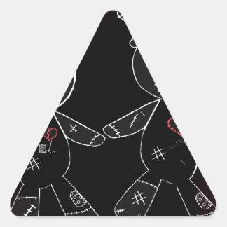 Broken Heart No Text Red Vig.jpg Triangle Sticker
