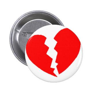 Broken Heart.png 6 Cm Round Badge