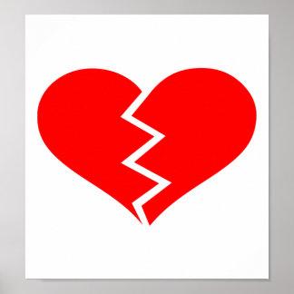 Broken heart posters