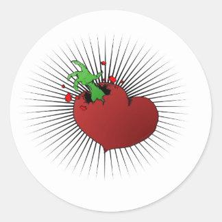 Broken Heart Round Stickers
