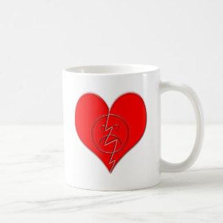Broken Heart Sad Face Basic White Mug