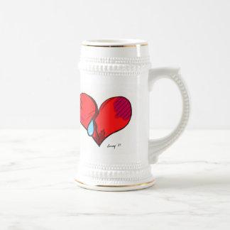 Broken Heart Stein 18 Oz Beer Stein