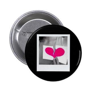 Broken Hearted 6 Cm Round Badge