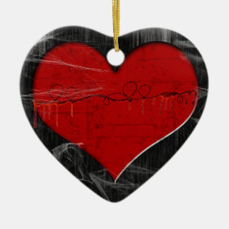 Broken Hearted Gothic Ornament