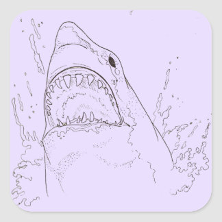 Broken-Hearted Shark Stickers