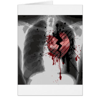 Broken Hearted X-ray Greeting Card