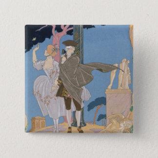 Broken Hearts, Broken Statues, illustration for 'F 15 Cm Square Badge