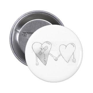 broken hearts do mend 6 cm round badge