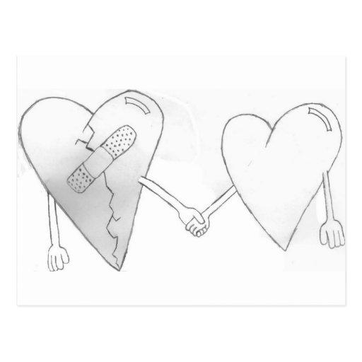 broken hearts do mend postcards