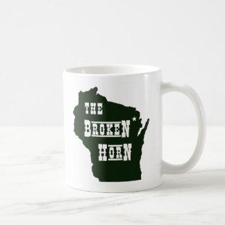 broken horn mug green